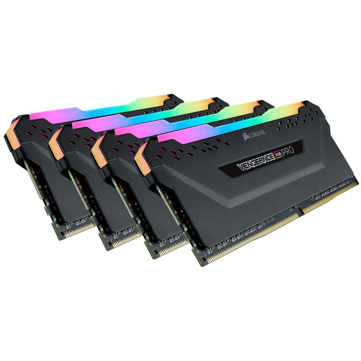 Corsair Vengeance RGB Pro 128 GB (4 x 32 GB) DDR4-3600 CL18 Memory