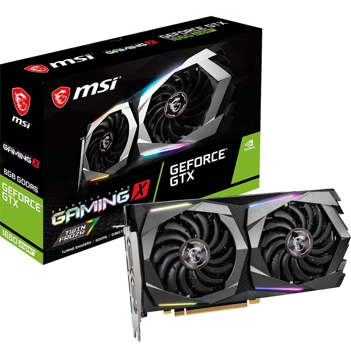 MSI GeForce GTX 1660 SUPER 6 GB GAMING X Video Card
