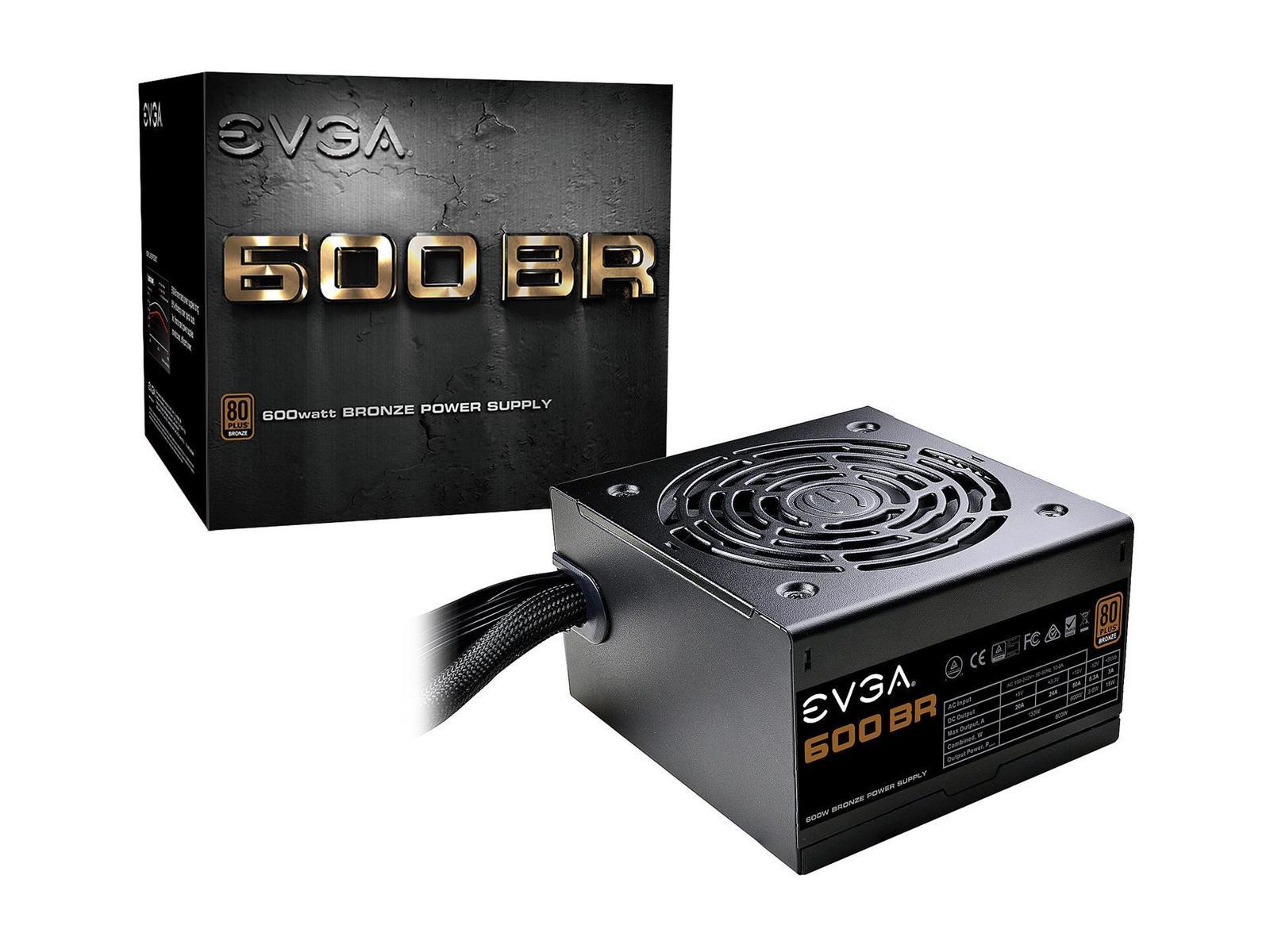 EVGA BR 600 W 80+ Bronze Certified ATX Power Supply