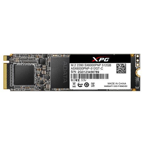 ADATA XPG SX6000 Pro 512 GB M.2-2280 NVME Solid State Drive