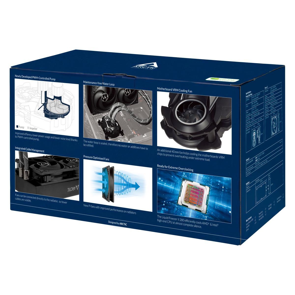 ARCTIC Liquid Freezer II 280 72.8 CFM Liquid CPU Cooler