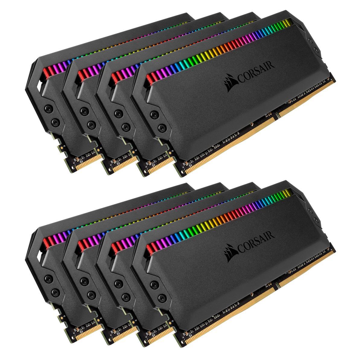 Corsair DOMINATOR PLATINUM RGB 128 GB (8 x 16 GB) DDR4-3800 CL19 Memory