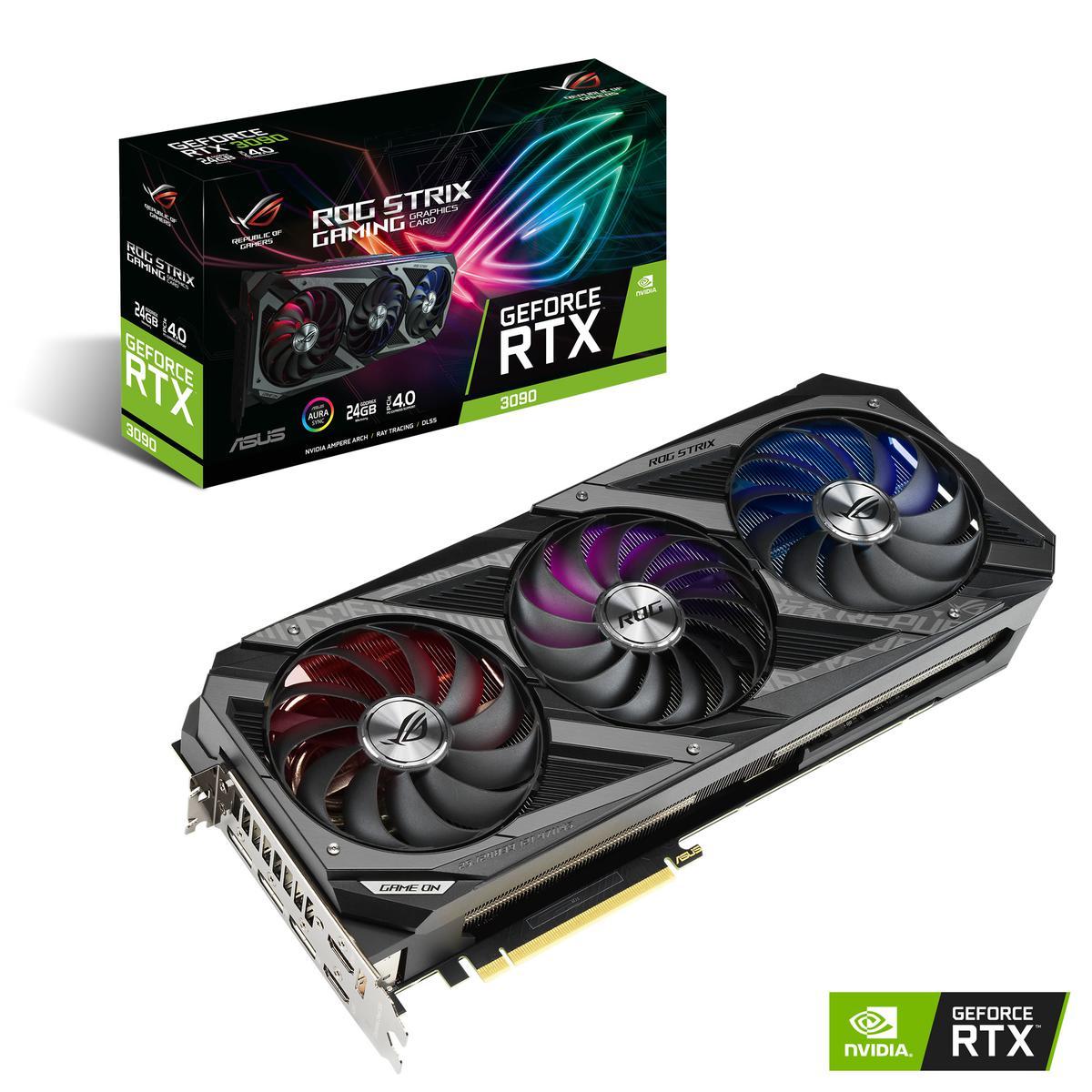 Asus GeForce RTX 3090 24 GB STRIX GAMING Video Card