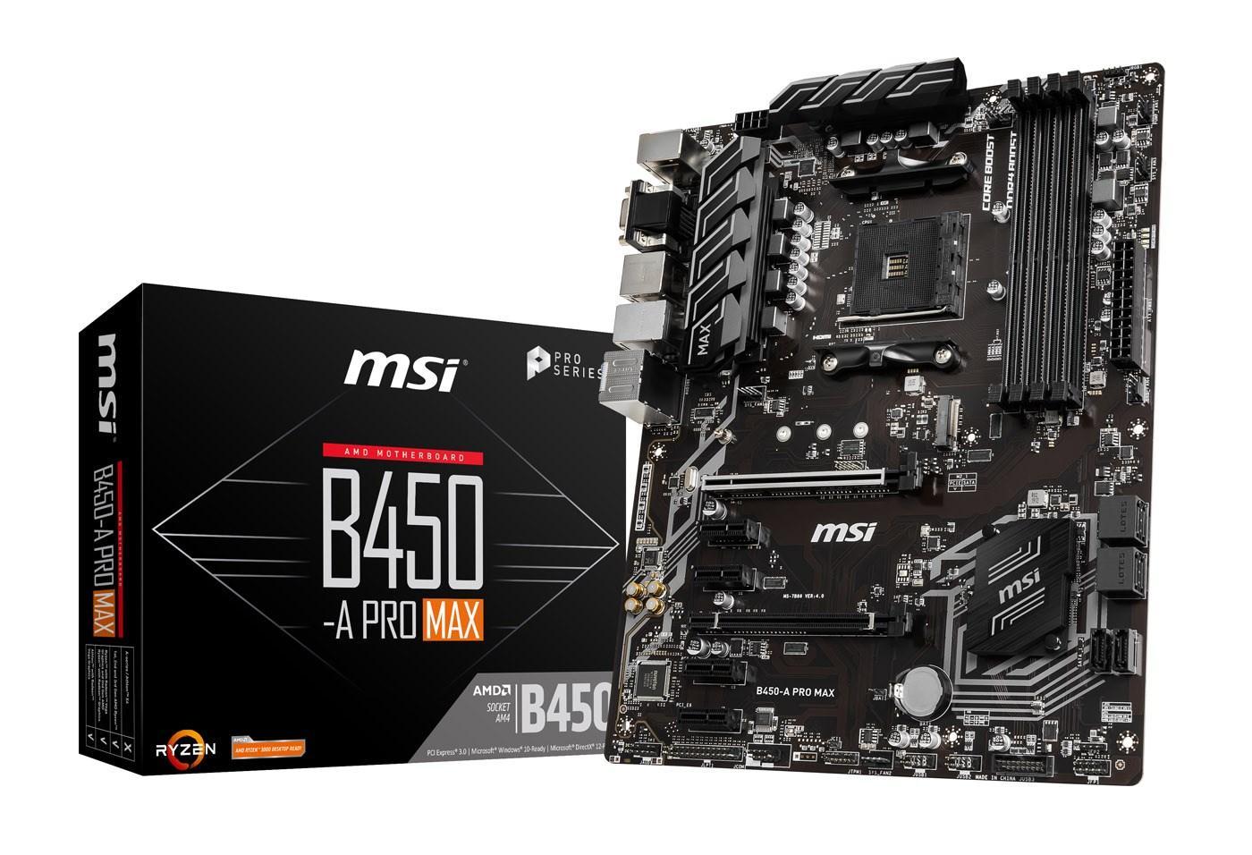 MSI B450-A PRO MAX ATX AM4 Motherboard