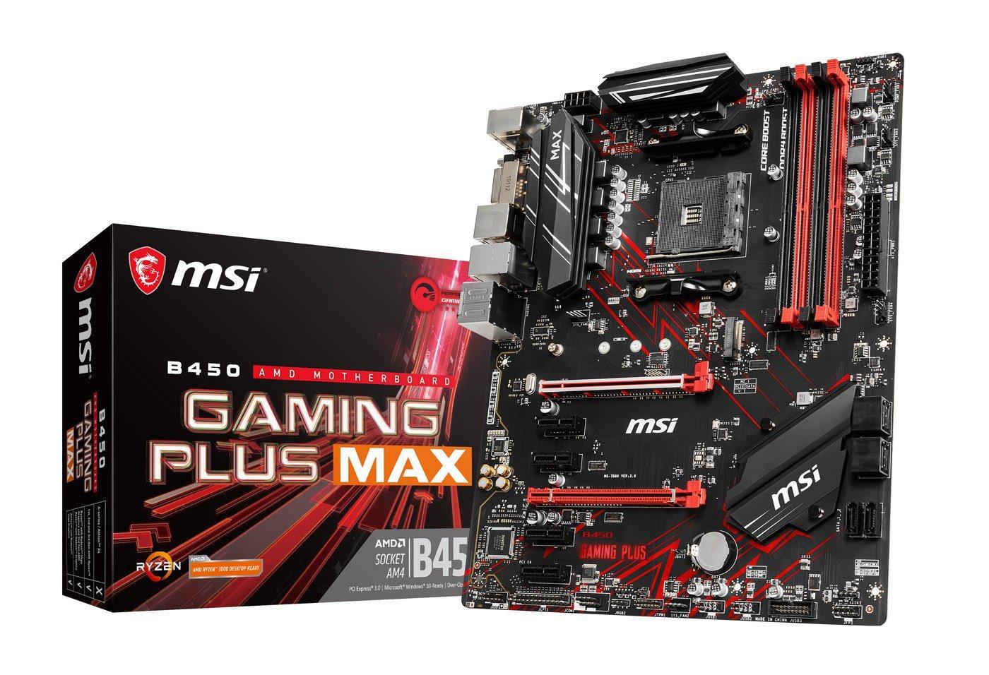 MSI B450 Gaming Plus MAX ATX AM4 Motherboard