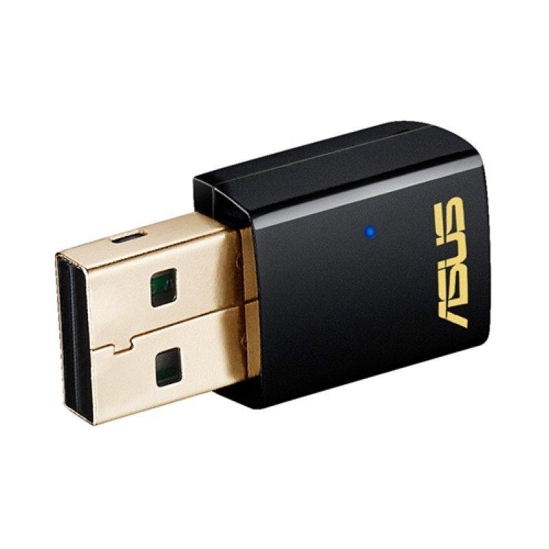 Asus USB-AC51 USB 2.0 802.11a/b/g/n/ac Wi-Fi Adapter