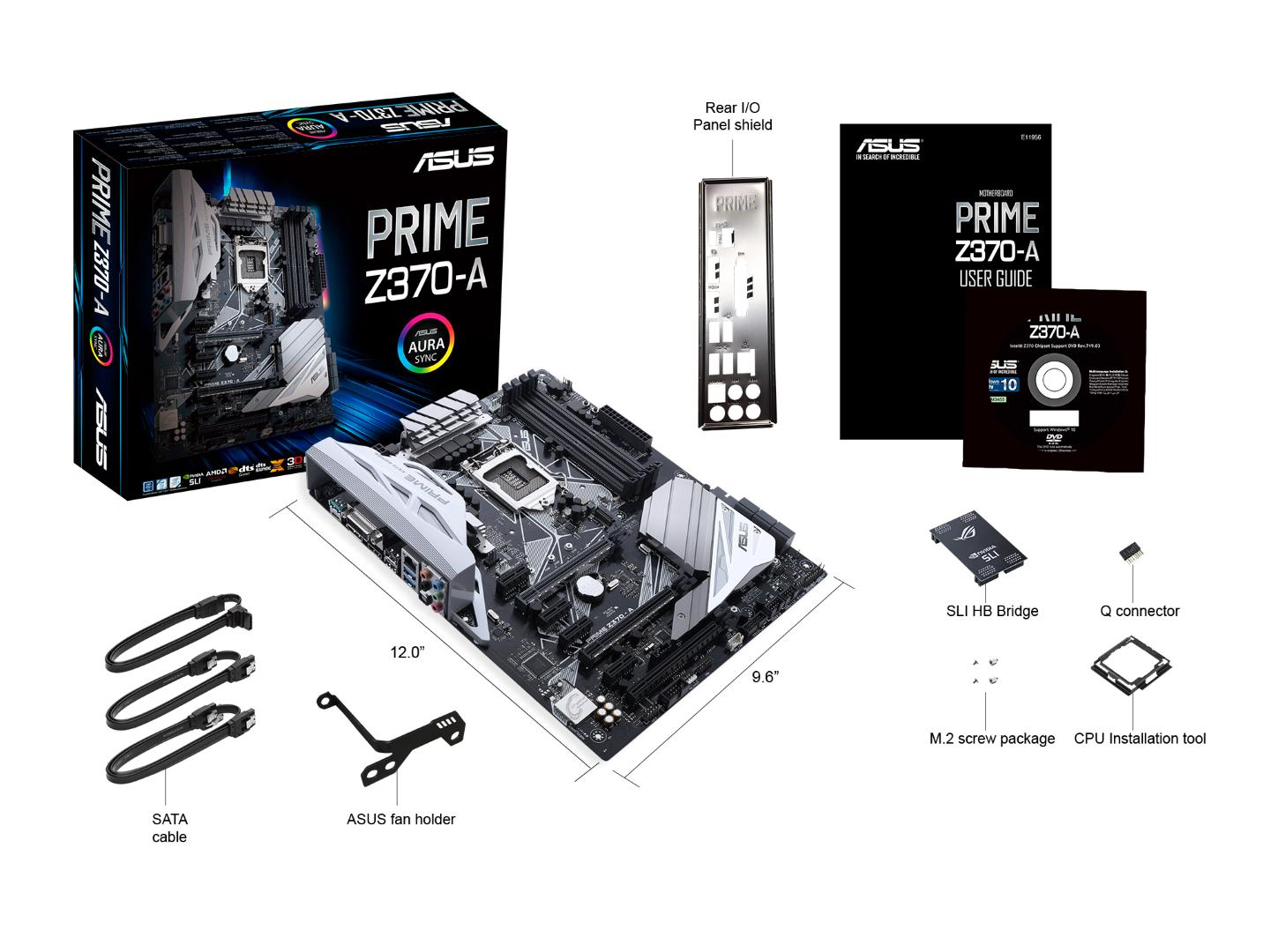 Asus Prime Z370-A ATX LGA1151 Motherboard