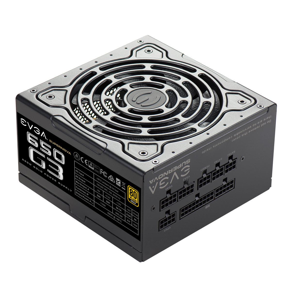 EVGA SuperNOVA G3 650 W 80+ Gold Certified Fully Modular ATX Power Supply