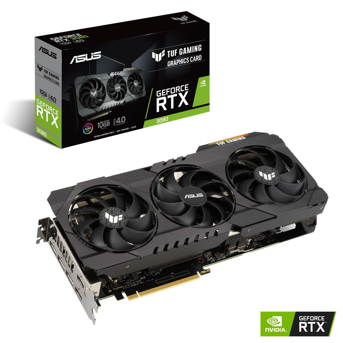 Asus GeForce RTX 3080 10 GB TUF GAMING OC Video Card