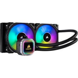 Corsair H100i RGB PLATINUM 75 CFM Liquid CPU Cooler