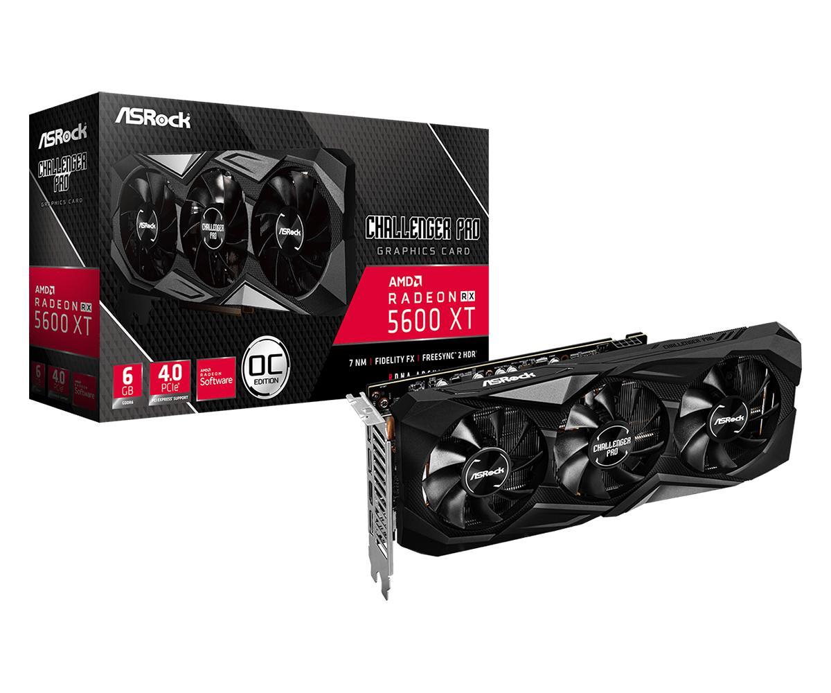 ASRock Radeon RX 5600 XT 6 GB Challenger Pro OC Video Card