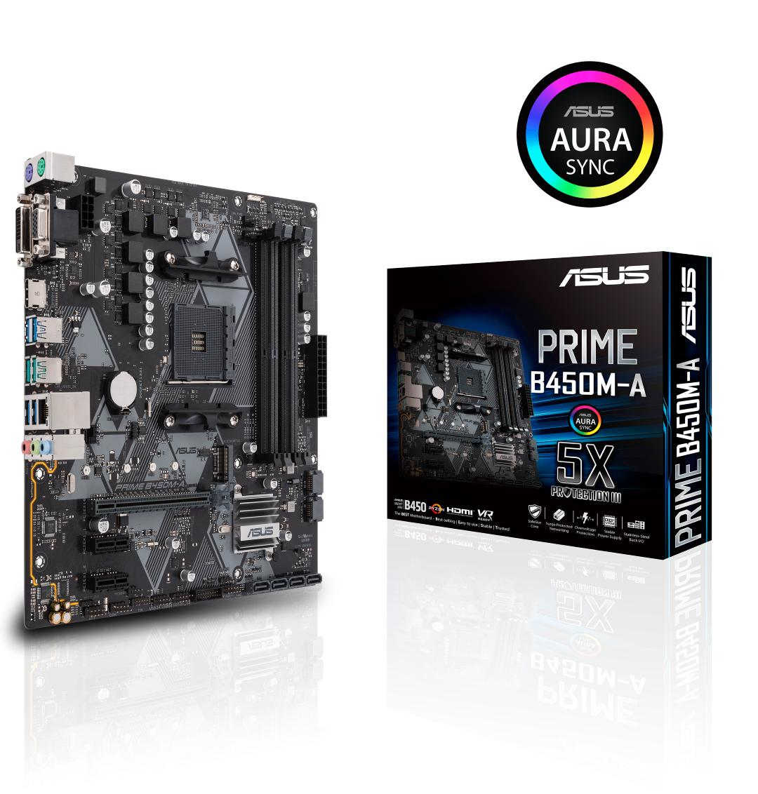 Asus PRIME B450M-A Micro ATX AM4 Motherboard