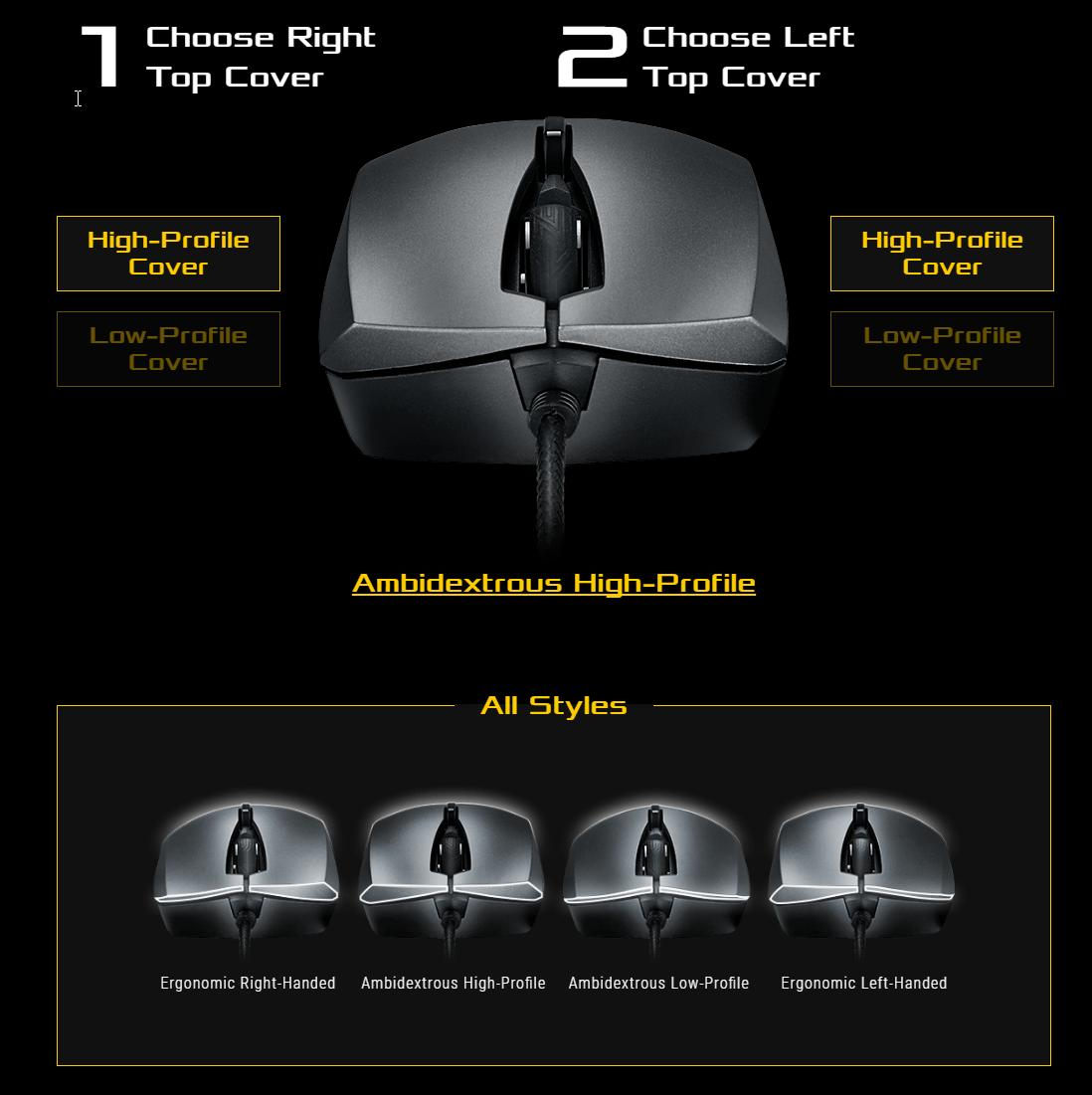 Asus ROG Strix Evolve Wired Optical Mouse