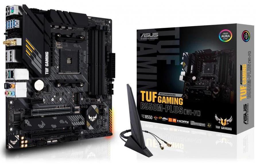 Asus TUF GAMING B550M-PLUS (WI-FI) Micro ATX AM4 Motherboard
