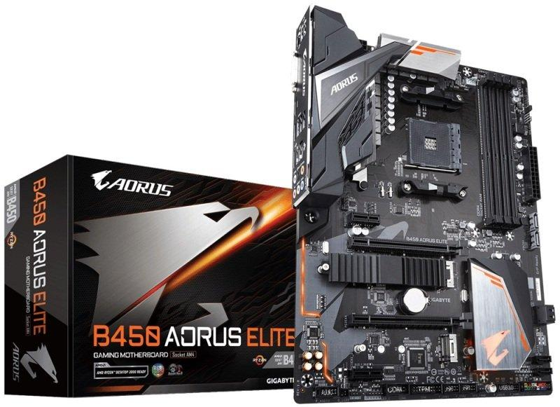 Gigabyte B450 AORUS ELITE ATX AM4 Motherboard