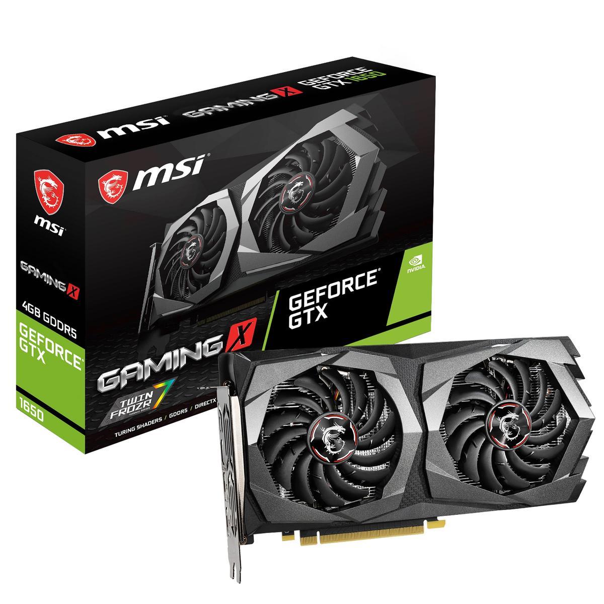 MSI GeForce GTX 1650 4 GB GAMING X Video Card