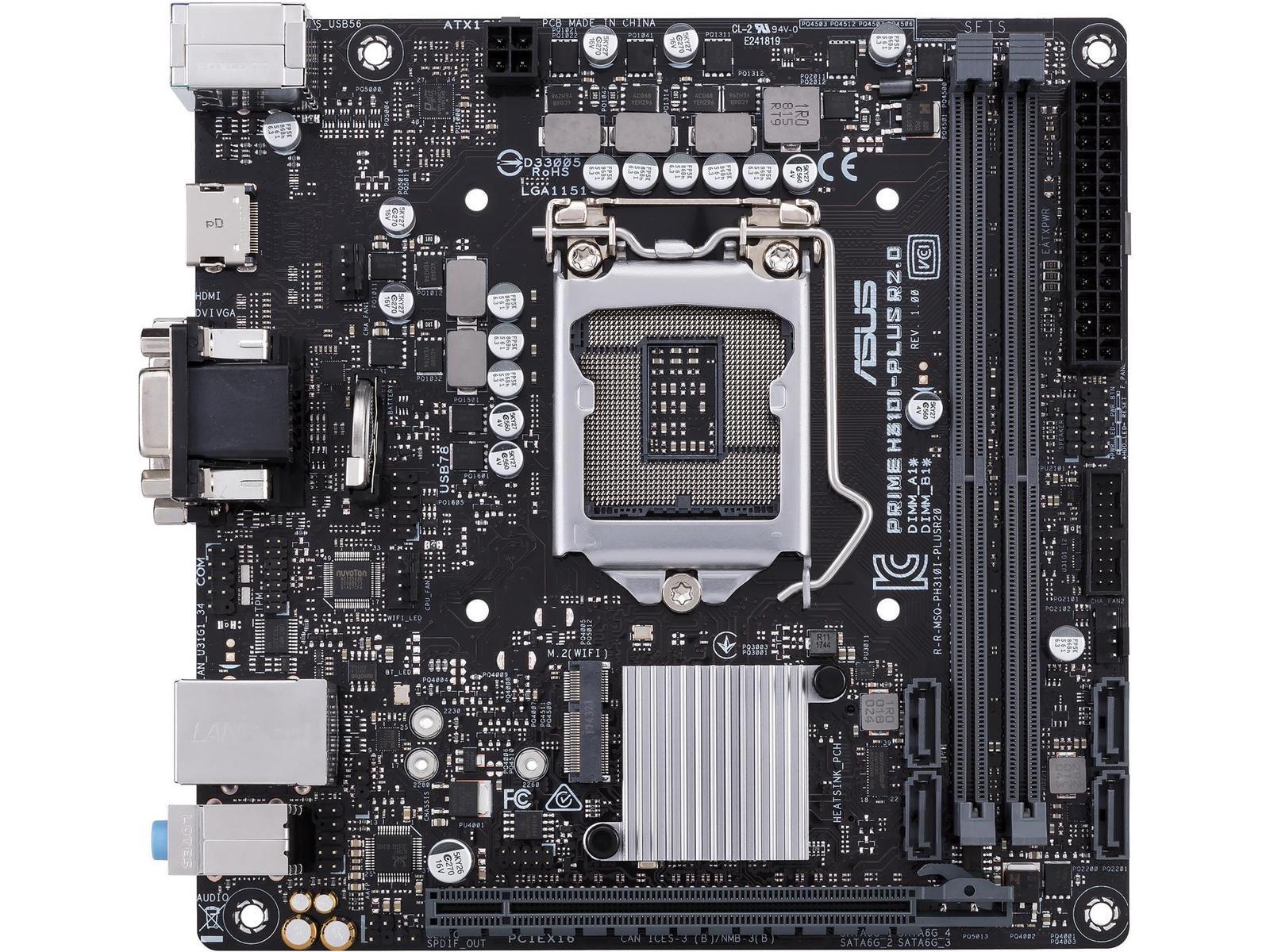 Asus Prime H310I-PLUS R2.0/CSM Mini ITX LGA1151 Motherboard