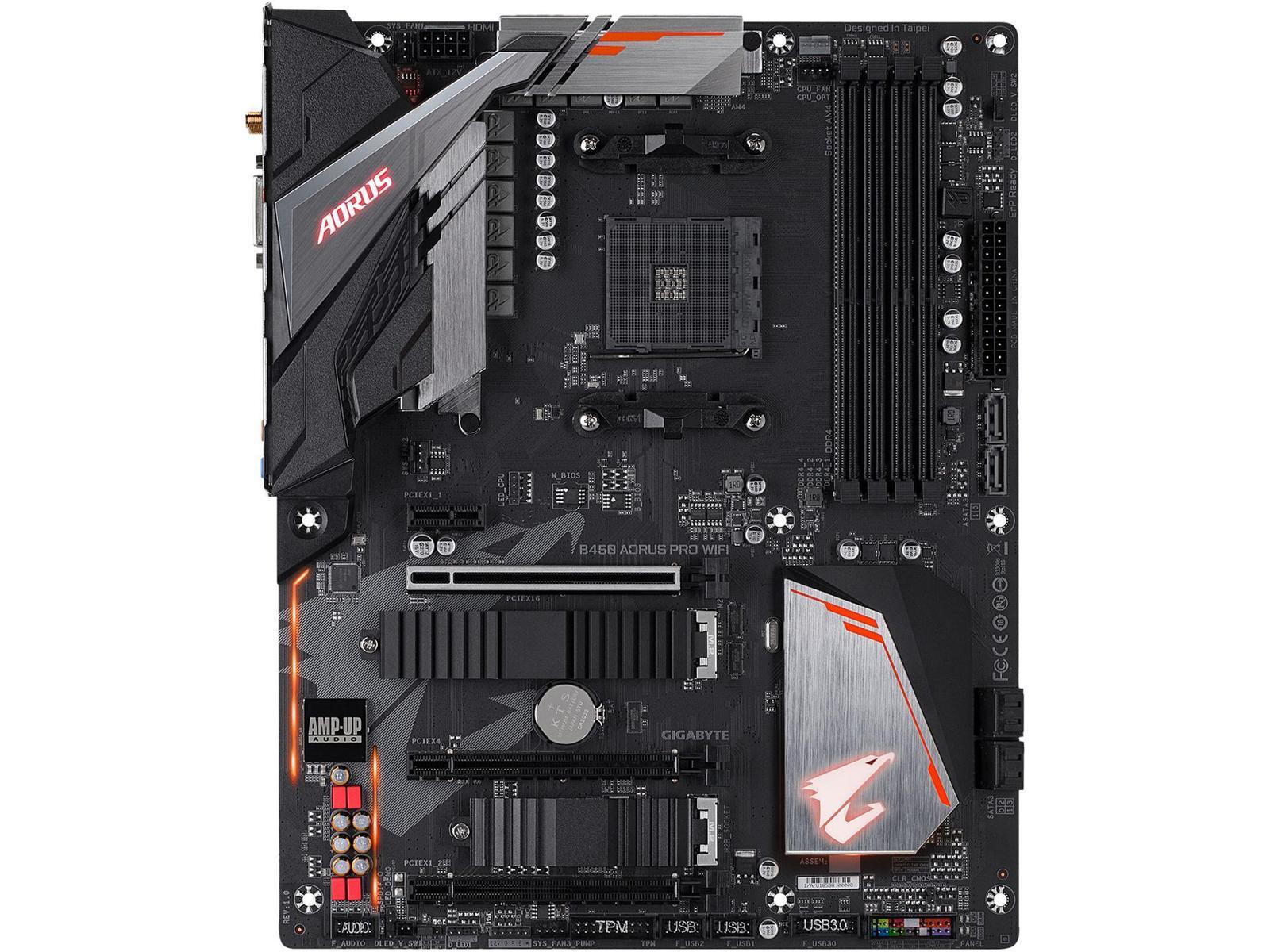 Gigabyte B450 AORUS PRO WIFI (rev. 1.0) ATX AM4 Motherboard