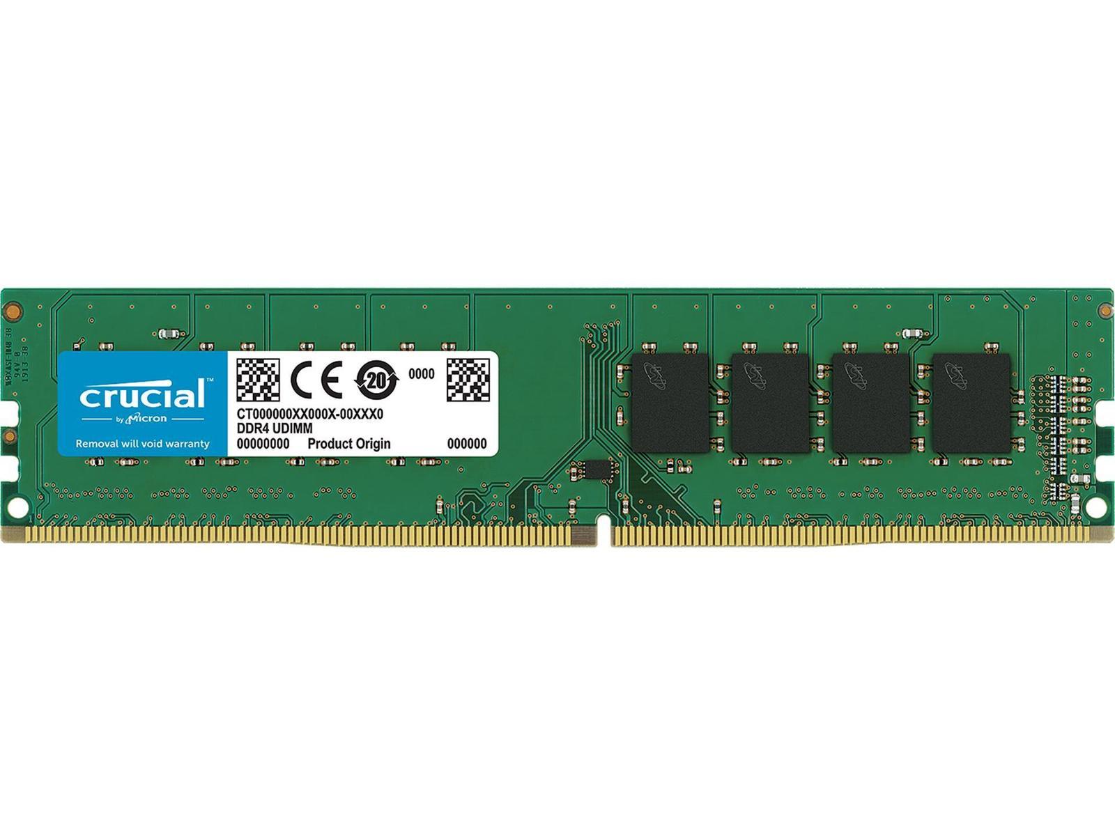 Crucial 8 GB (1 x 8 GB) DDR4-2400 CL17 Memory