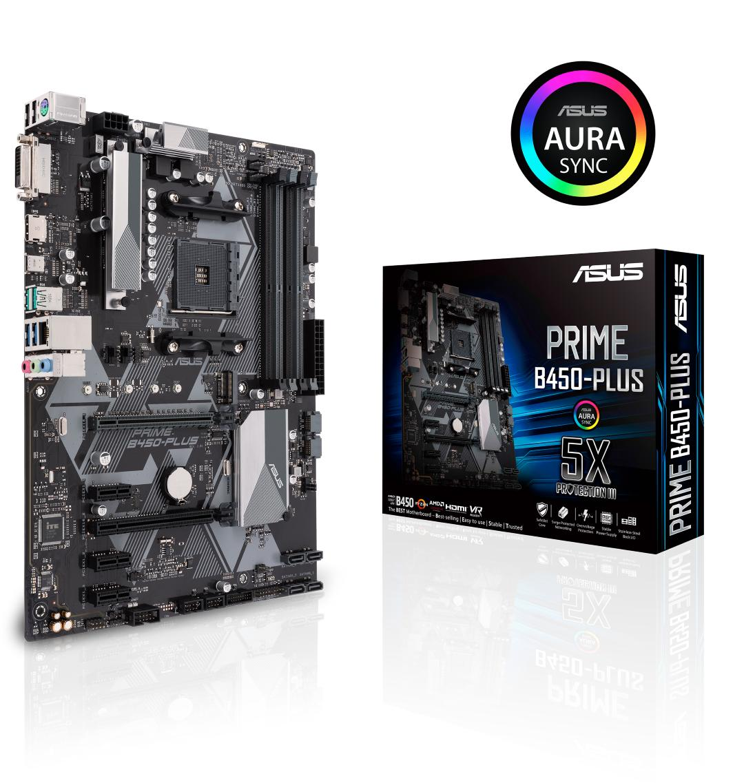 Asus PRIME B450-PLUS ATX AM4 Motherboard