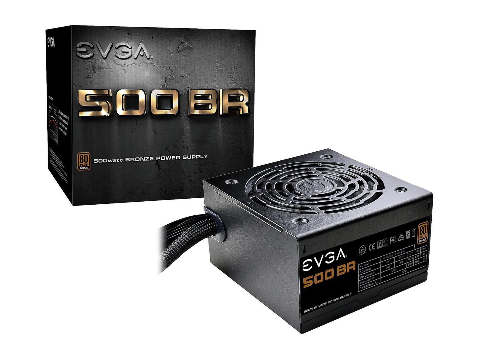 EVGA BR 500 W 80+ Bronze Certified ATX Power Supply