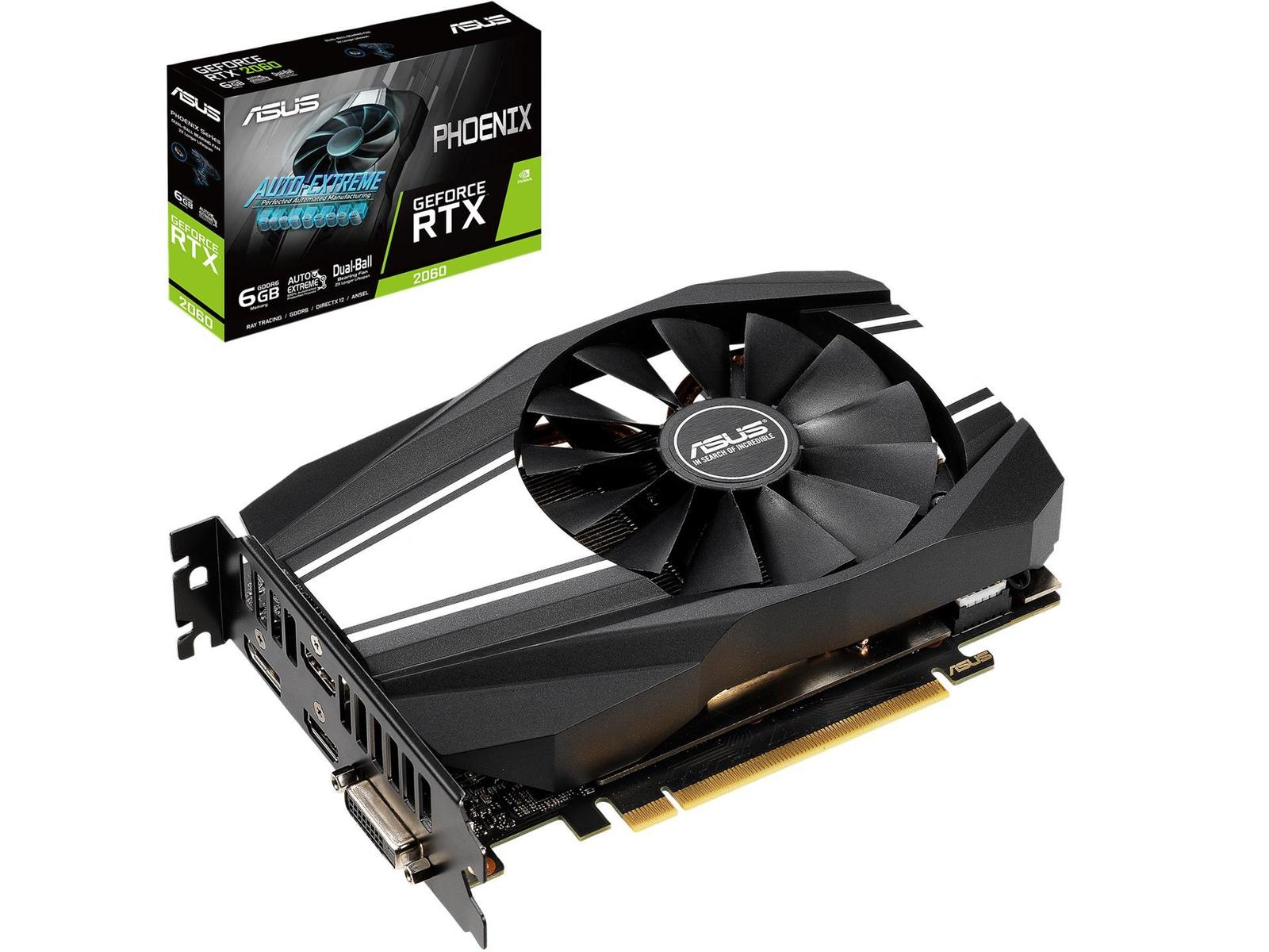 Asus GeForce RTX 2060 6 GB Phoenix Fan Video Card