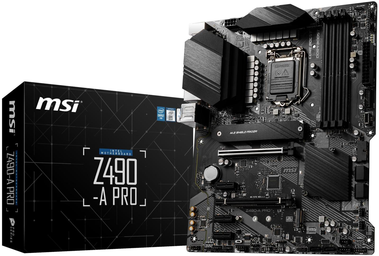 MSI Z490-A PRO ATX LGA1200 Motherboard