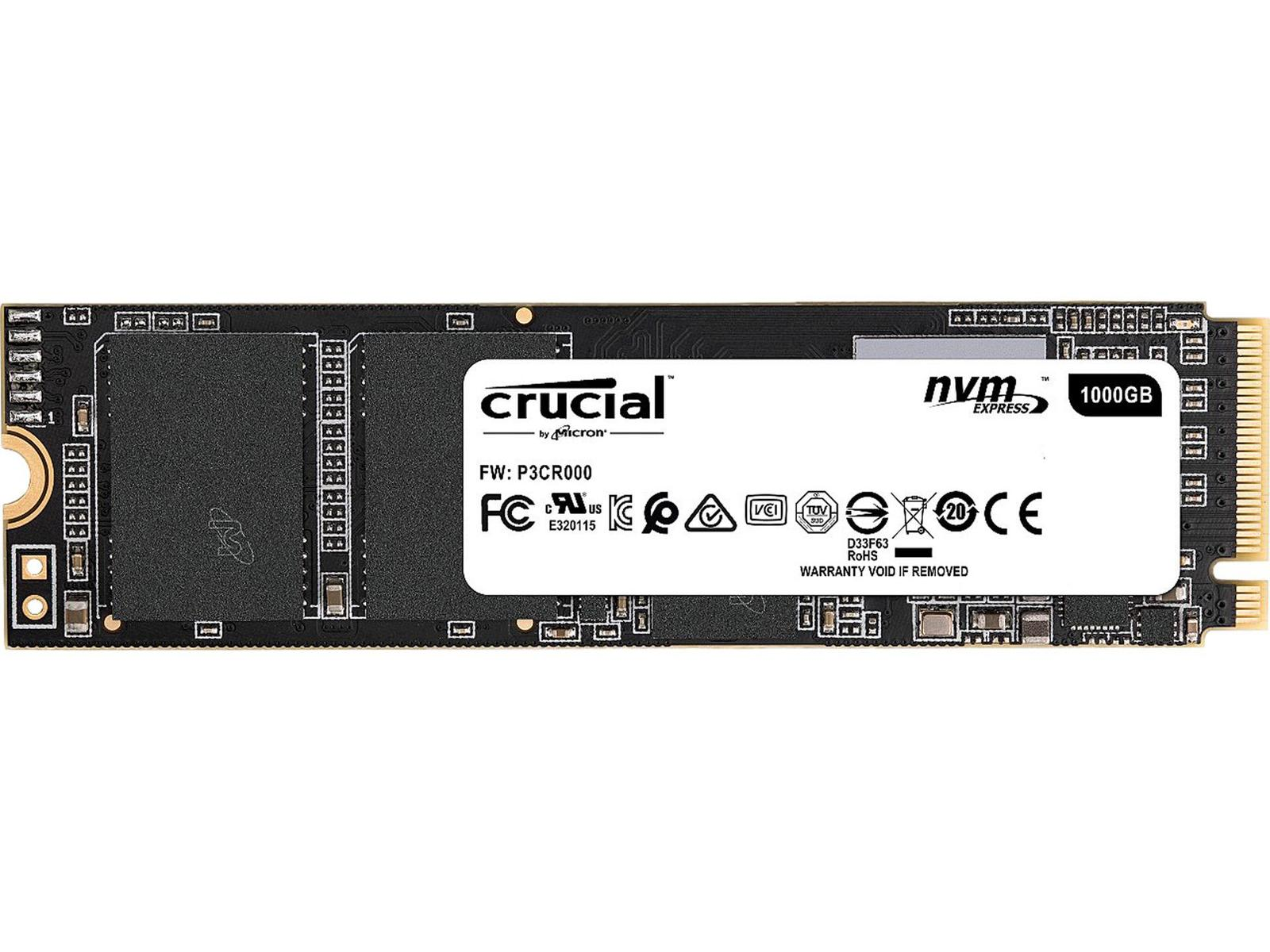 Crucial P1 1 TB M.2-2280 NVME Solid State Drive