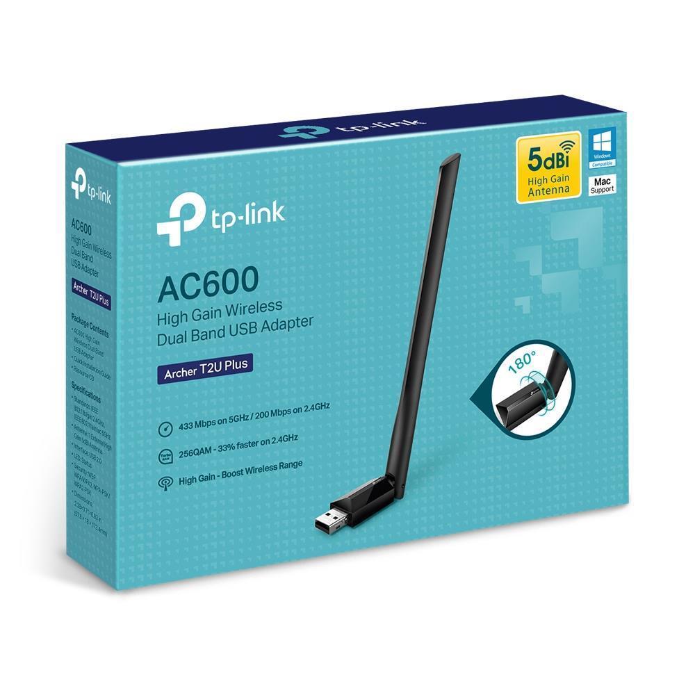 TP-Link ARCHER T2U PLUS USB 2.0 802.11a/b/g/n/ac Wi-Fi Adapter