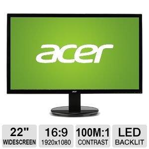 "Acer K222HQL 21.5"" 1920x1080 60 Hz Monitor"