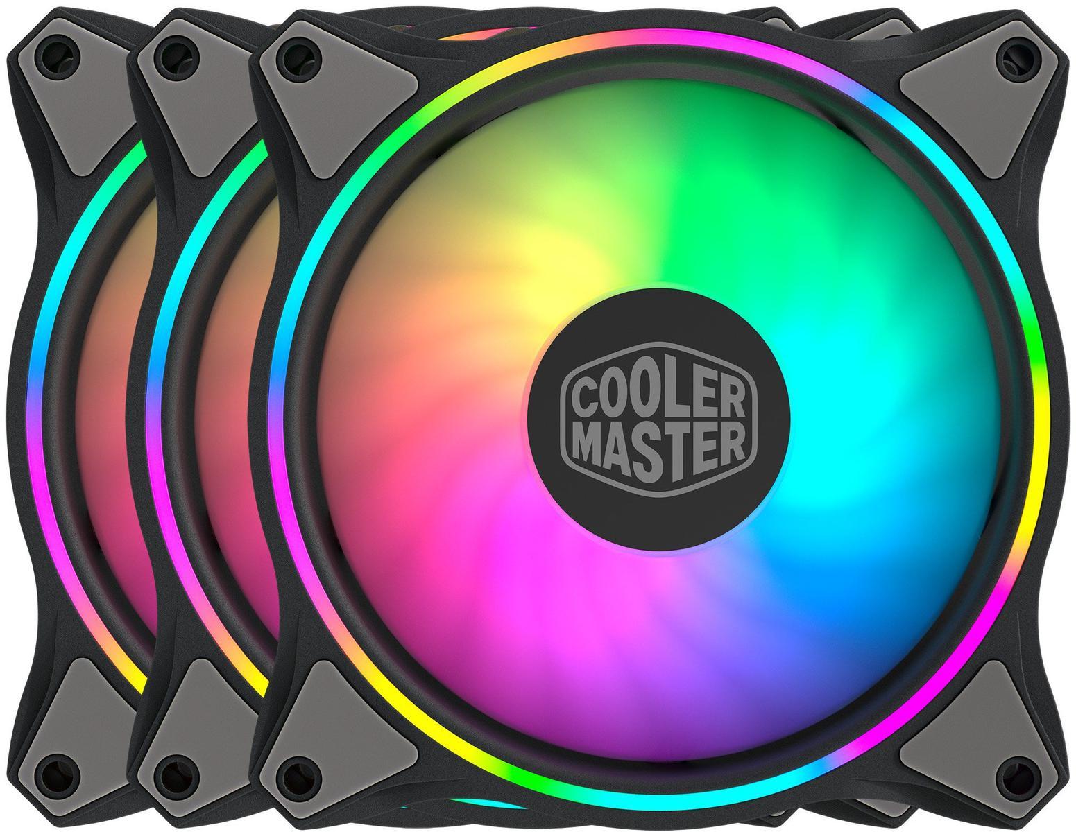Cooler Master MasterFan MF Halo 47.2 CFM 120 mm Fans 3-Pack