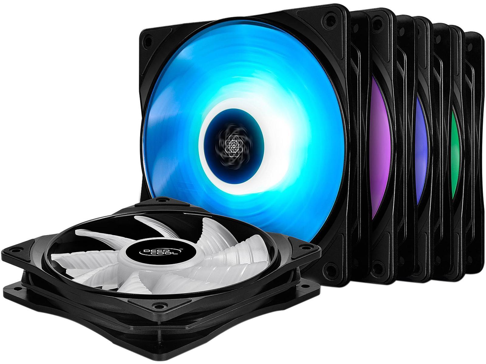 Deepcool RF120M 56.5 CFM 120 mm Fans 5-Pack