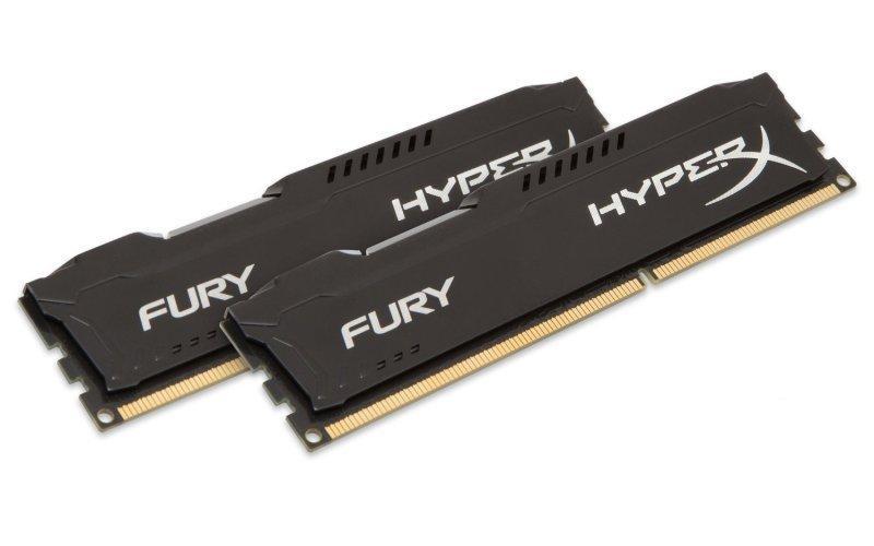 Kingston HyperX Fury Black 16 GB (2 x 8 GB) DDR3-1866 CL10 Memory