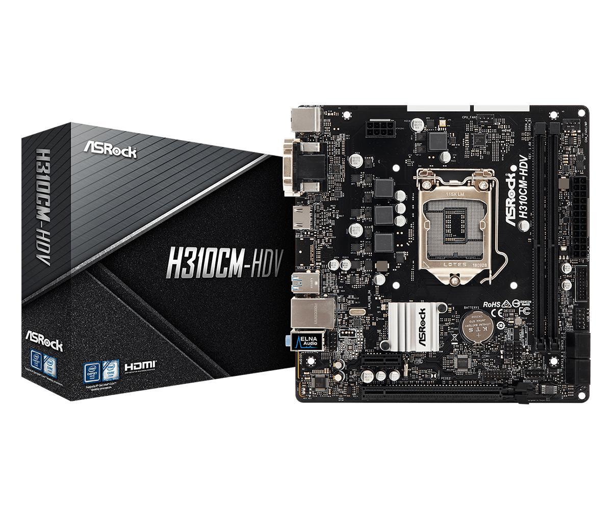 ASRock H310CM-HDV Micro ATX LGA1151 Motherboard